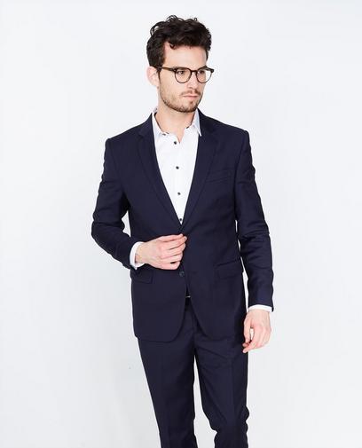 Nachtblauwe geklede blazer